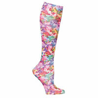 Celeste Stein Mild Compression Knee High Stockings, Wide Calf-Artistic Butterfly