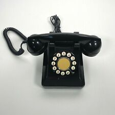 Microtel Telephone Model 999 Rotary Push Button Phone Black