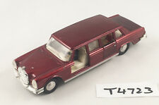 VINTAGE DINKY #128 MERCEDES BENZ 600 PULLMAN LIMOUSINE DIECAST CAR 1976-80 RED