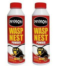 2 x Nippon Wasp & Nest Killer Powder 300g Pest Control Effective/Kills 24 Hours