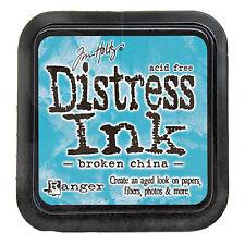 Tim Holtz Distress Ink Pad Full Size BROKEN CHINA  Blue, Aqua  See Video