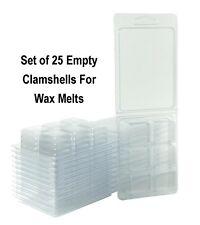 Wax Melt Molds, Clamshells Wax Tarts, Wholesale Lot Wax Melt Containers FreeShip