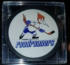 PHOENIX ROADRUNNERS vintage IHL Hockey official game  Puck + new cube