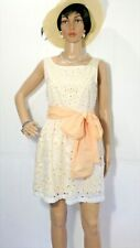 Cream Eyelet w/Yellow Lined Retro Dress by Altar'D State Sz:  Medium