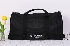 97896f079e3e CHANEL Duffel Travel Gym Shoulder VIP Gift Bag w Removable Strap Stitch  Logo P