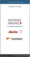 Austrian Airlines system timetable 10/27/02 [7103]