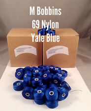Pre Wound Bobbins M  69 Nylon Bonded  YALE BLUE One Gross 144ct