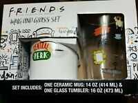 New FRIENDS TV Series Mug and Glass Tumbler Central Perk Cafe Gift Set Boxed