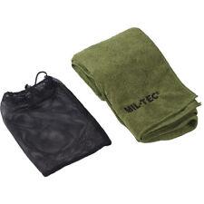 Mil-Tec Microfiber Military Towel Soft Hiking Camping Hand Cloth 120X60Cm Olive