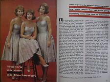 4/1/1961 TV Guide(THE  McGUIRE SISTERS/ROGER SMITH/EVERETT  SLOANE/GORDON SCOTT)