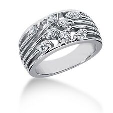 Right Hand Ring 14k White Gold 0.50 Carats Women's Round Cut Diamond