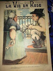 PROSTITUTION .ÉROTISME. REVUE, CARICATURES, 1903.Les Dimanches.