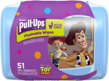 Huggies Pull-Ups Big Kid Flushable Wipes, 51 Count, Toy Story Theme