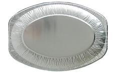 10 Servierplatten oval 550 x 360 mm Alu Servierplatte Catering Buffet Aluminium