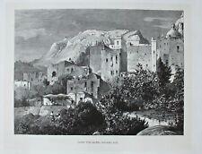 Italien, Italy, Capri - Hotel Pagano - Stich, Holzstich 1885
