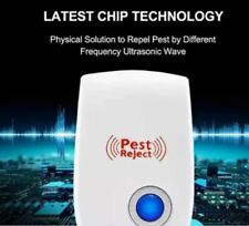 6 Electronic Pest Reject Control Ultrasonic Repeller Home Bug Rat Spider Roaches