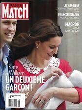 Paris Match magazine Kate Middleton Prince Louis Emmanuel Macron Francoise Hardy