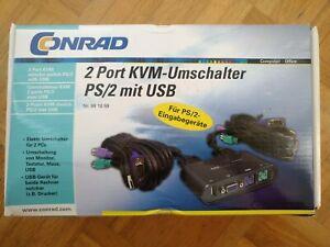 2 Port KVM-Umschalter (Switch), VGA, USB, 2 x PS/2 von Conrad Electronic