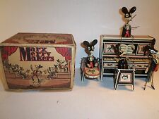 1928 Marx Merry Makers Band w/ Original Box Dancing Mice w/ Piano C7-C8 Cond.