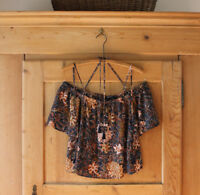 Madewell~ Floral Cold Shoulder Top~Sz M~ EUC