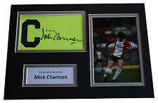More details for mick channon signed captains armband a4 photo display southampton aftal & coa