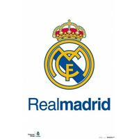REAL MADRID - LOGO POSTER 24x36 - 3636