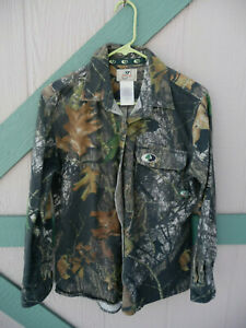 Mossy Oak Womans Cotton Flannel Camo SilentStalker hunting Shirt L
