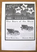 "1974 PRINT/POSTER/AD~FORD MOTOR CO 1905 & THE MILWAUKEE 1901~DOUBLE SIDE~15""x11"""