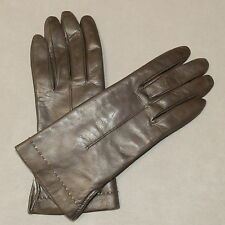c5314cd17 Accessories Gloves Leather Extremely Soft Fur Rabbit Lined Brown 6.5