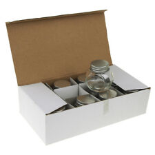Clear Mini Glass Tilted Candy Jar with Silver Lid, 2-Inch, 12-Count