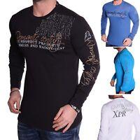 Herren Sweatshirt Langarmshirt Longsleeve Freizeit Langarm T-shirt S M L XL NEU
