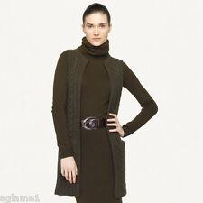 """NWT $998 Ralph Lauren BLACK LABEL """" Thick """"100% Cashmere Vest Sweater L Large"""