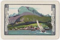 Playing Cards 1 Single Card Old LNER Railway Train Advertising Art FORT WILLIAM