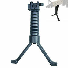 Tactical Retractable Foregrip Bipod Reinforced Legs w/ side 20mm Picatinny Rail