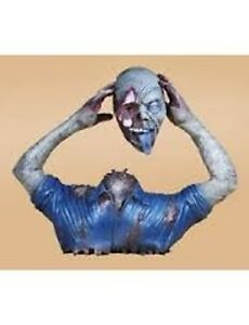 Blue Monster Life Size Halloween Yard Prop Zombie Decoration Scary Gruesome Gory