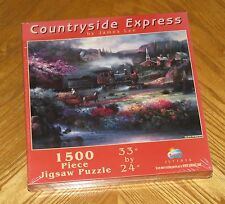 Countryside Express James Lee Art train SunsOut 1500 Puzzle 33 x 24 sealed