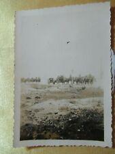 WWII Original German Photo Combat column of horse drawn Arty 7.5 cm