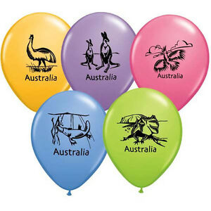 "AUSTRALIA DAY BALLOONS 10 x 11"" QUALATEX CONTEMPORARY AUSTRALIA BALLOONS"