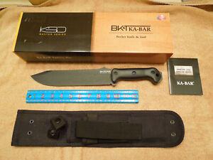 KA-BAR #BK-9 BECKER COMBAT BOWIE FIGHTING UTILITY KNIFE w/ FRONT POUCH SHEATH