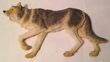 """Wolf / Wolves 3D Wall Hanger - Resin - Beautiful Life Like 14"""" Long X 8"""" High"""