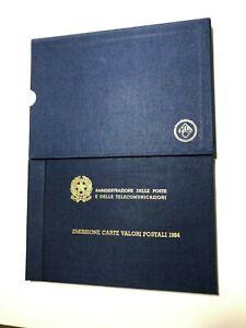 1984 Folder Libro Libretto Francobolli Annata Copertina e Custodia Rigida