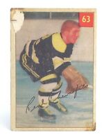 1954-55 Real Chevrefils #63 Boston Bruins Left Wing Parkhurst Hockey Card G930