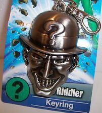 Licensed DC COMICS BATMAN THE RIDDLER Pewter KEY CHAIN KEYRING Keychain Fob NEW!