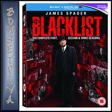 THE BLACKLIST - COMPLETE SEASONS 1 2 &  3  *BRAND NEW BLURAY BOXSET**