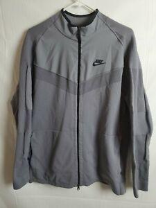 Nike Sportswear Tech Knit Jacket Gunsmoke Black Size Large 886150-036