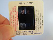 More details for original press photo slide negative - eric clapton & babyface - 1987