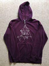 Volcom Mens Full Zip Hoodie - Wine/Purple - Large
