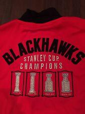 Chicago Blackhawks Mens Medium CCM Stanley Cup Champion Zip Up Jacket . NHL NEW