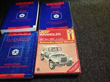 1993 Jeep Cherokee Wrangler Service Shop Repair Manual Set W Haynes + Powertrain