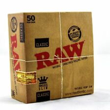 More details for 1 5 10 20 50 raw classic king size slim 110mm natural unrefined rolling papers